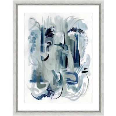 """""""Dark waters I"""" Framed Archival Paper Wall Art (26 in. x 32 in. in full size)"""