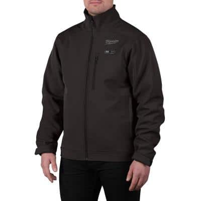 Men's Large M12 12V Lithium-Ion Cordless TOUGHSHELL Black Heated Jacket with (1) 3.0 Ah Battery and Charger