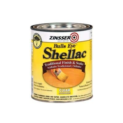 1-qt. Clear Shellac Traditional Finish and Sealer (Case of 4)