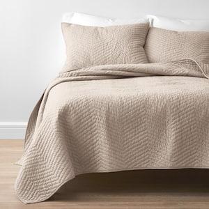 Company Cotton Mushroom Solid Full/Queen Quilt