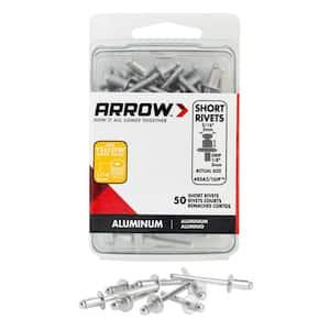 3/16 in. x 1/8in. Aluminum Rivets (50-Pack)