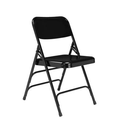 Black Metal Stackable Folding Chair (Set of 4)