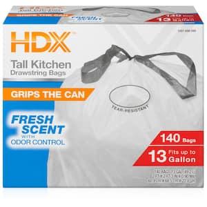 13 Gallon Scented Flex Drawstring Kitchen Trash Bags (140-Count)