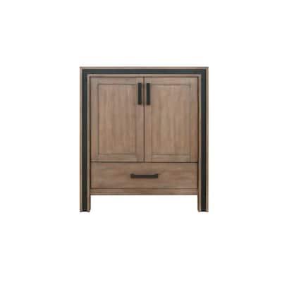 Ziva 29 in. W x 22 in. D Bath Vanity Cabinet only in Rustic Barnwood