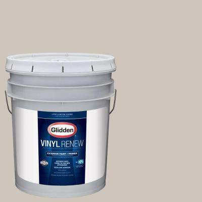 5 gal. #HDGWN36 Fossil Grey Low-Lustre Exterior Paint with Primer