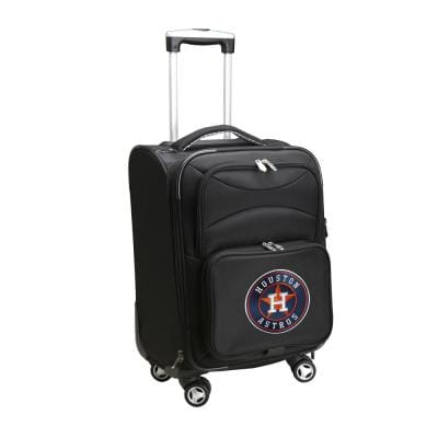 MLB Houston Astros 21 in. Black Carry-On Spinner Softside Suitcase