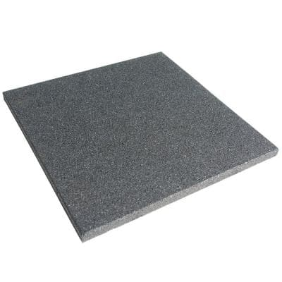 Eco-Sport Coal 3/4 in. T x 19.5 in. W x 19.5 in. L Interlocking Gym Flooring Rubber Tiles (28 sq. ft.) (10-Pack)