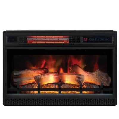 26 in. Ventless Infrared Electric Fireplace Insert with Safer Plug