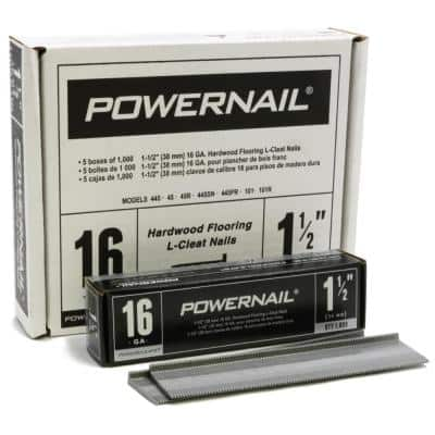 1-1/2 in. 16-Gauge Powercleats Hardwood Flooring Nails 5 (1000-Box)