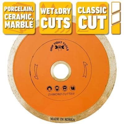 4-1/2 in. Classic Continuous Rim Tile Cutting Diamond Blade for Cutting Porcelain, Ceramic and Marble (3-Pack)