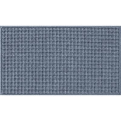 Aqua Shield Squares 35 in. x 59 in. PET Polyester Doormat Bluestone