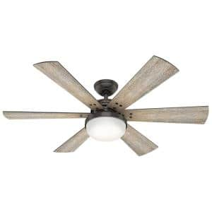 Cavalry 52 in. LED Indoor Noble Bronze Ceiling Fan with Light Kit and Handheld Remote