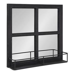 Medium Square Black Classic Mirror (20.25 in. H x 20.25 in. W)
