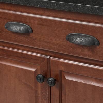1-1/2 in. Black Cabinet Knob