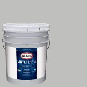 Glidden Vinyl Renew 5 Gal Hdgcn62 Pebble Grey Low Lustre Exterior Paint With Primer Hdgcn62v 05v The Home Depot
