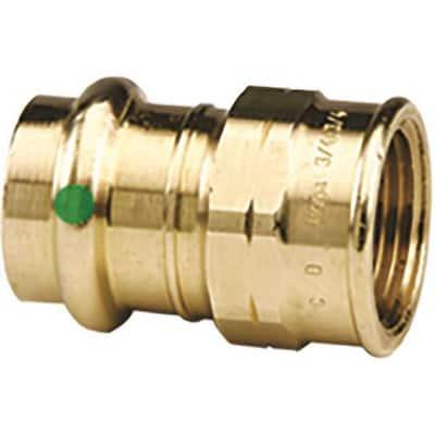 ProPress 3/4 in. Press x 3/4 in. FPT Zero-Lead Bronze Adapter Fitting