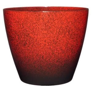 Vogue 8 in. Lava Red Resin Planter