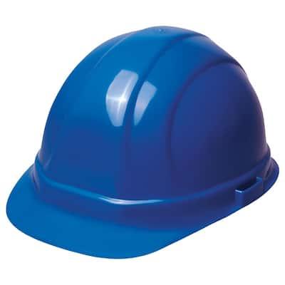 Omega II 6 Point Nylon Suspension Slide-Lock Cap Hard Hat in Blue