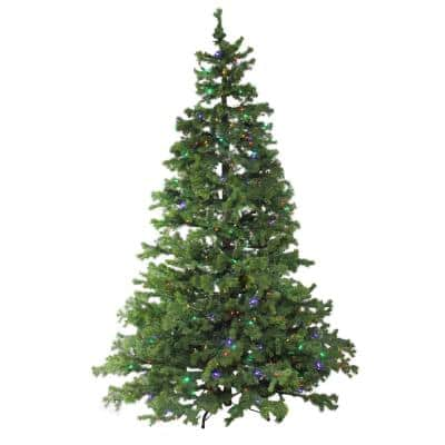 7.5 ft. Layered Pine Instant Power Technology Single Plug Christmas Tree - Multi LED Lights
