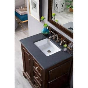 James Martin Vanities Brittany 30 In Single Bath Vanity In Burnished Mahogany With Quartz Vanity Top In Charcoal Soapstone With White Basin 650 V30 Bnm 3csp The Home Depot
