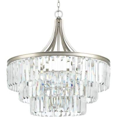 Glimmer Collection 6-Light Silver Ridge Pendant