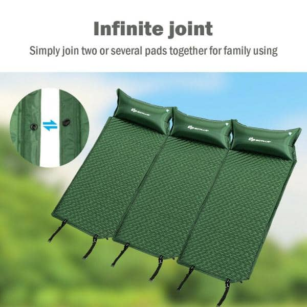 Outdoor Gonflable Matelas isolant Knoll Camping Tapis 183x50x5 Cm Incl Sac Pompe