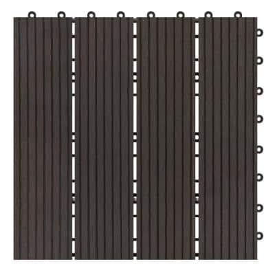 Terrace Collection 1 ft. x 1 ft. Bamboo Composite Deck Tile in Espresso (11 sq. ft. per Box)