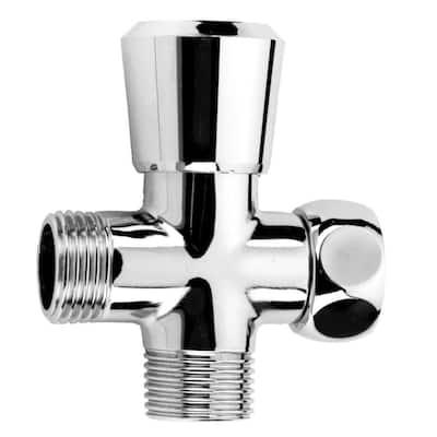 Pop-Up Brass Shower Diverter in Polished Chrome