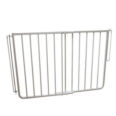 30 in. H x 27 in. to 42.5 in. W x 2 in. D Stairway Special Outdoor Safety Gate in White