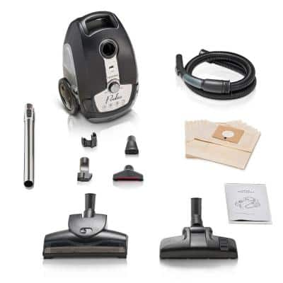 Tritan Bagged Canister Vacuum HEPA Sealed Hard Floor Vacuum with Powerful 12 Amp Motor