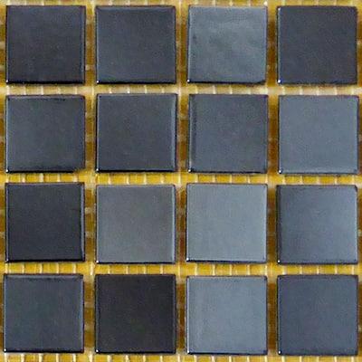 Black 12 in. x 12 in. x 4 mm Glass Mosaic Tile DIY Kit (10 sq. ft./case)