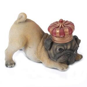 Polyresin Pug Puppy Garden Statue