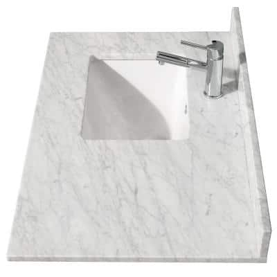Sink On Left Side Bathroom Vanity Tops Bathroom Vanities The Home Depot