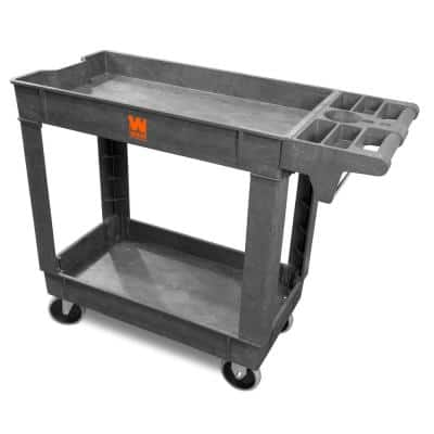40 in. x 17 in. 2-Shelf Service Utility Cart with 500 lbs. Capacity