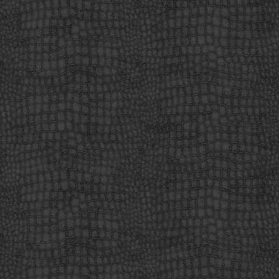 Black Vinyl Non-Pasted Moisture Resistant Wallpaper Roll (Covers 56 Sq. Ft.)