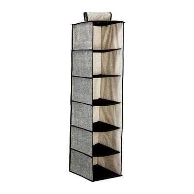 12 in. x 12 in. x 47 in. 6 Shelf Closet Organizer in Black