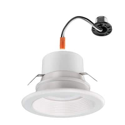 4 in. 30-in-1 Configurations Selectable CCT Integrated LED Recessed Light Trim Downlight High Ceiling Output Wet Rated