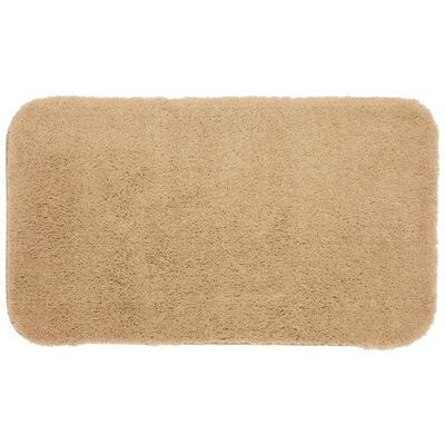 Pure Perfection Linen 24 in. x 40 in. Nylon Machine Washable Bath Mat