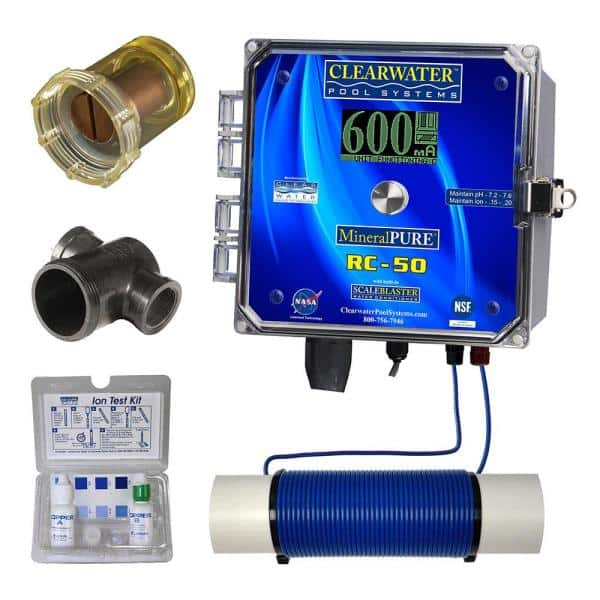 Mineral Pure 50 000 Gal Residential Swimming Pool Ionizer Rc 50 The Home Depot