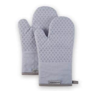 Asteroid Silicone Grip Lavender Oven Mitt Set (2-Pack)
