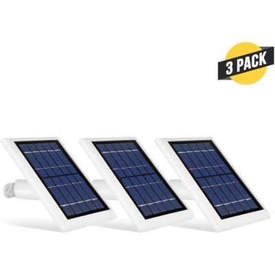Solar Panel Compatible with Ring Spotlight Cam Battery and Ring Stick Up Cam Battery (3 Pack, White)