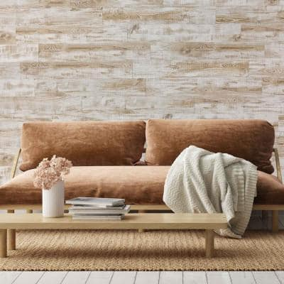 DIP White Birch 5 in. x 34 in. Ultra Matte PVC Peel and Stick Wall-Planks (14.2 sq. ft./12-Planks)