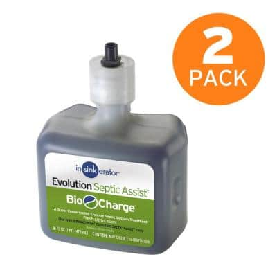 Bio-Charge Cartridge Replacement for Evolution Septic Assist Garbage Disposals (2-Pack)
