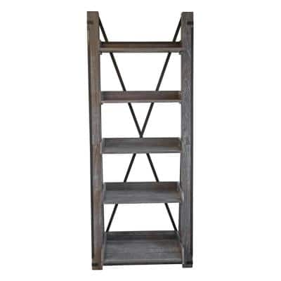 Washed Driftwood Model 33400 Industrial Open Ladder Bookcase