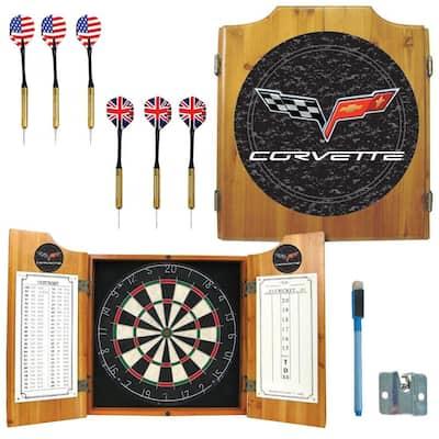 Corvette Model C6 Wood Finish Dart Cabinet Set