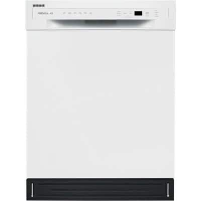 24 in. White Front Control Tall Tub Dishwasher with Stainless Steel Tub, 52 dBA