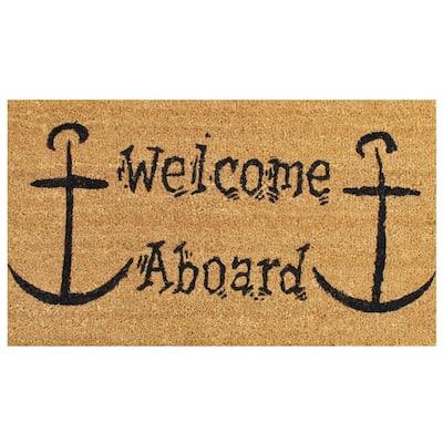 Welcome Aboard Door Mat 17 in. x 29 in.