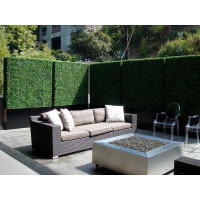 Gorgeous Home Artificial Boxwood Hedge Greenery Panels 20 in. x 20 in. / Piece (Set of 24-Piece)