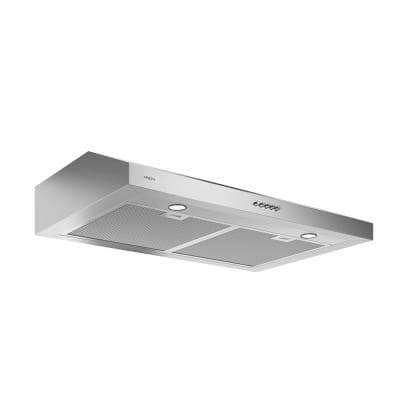 Slim 30 in. 325 CFM Convertible Ductless Under Cabinet Range Hood with LED in Stainless Steel