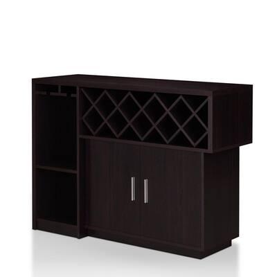 Vosso 22-Bottle Espresso Wine Cabinet